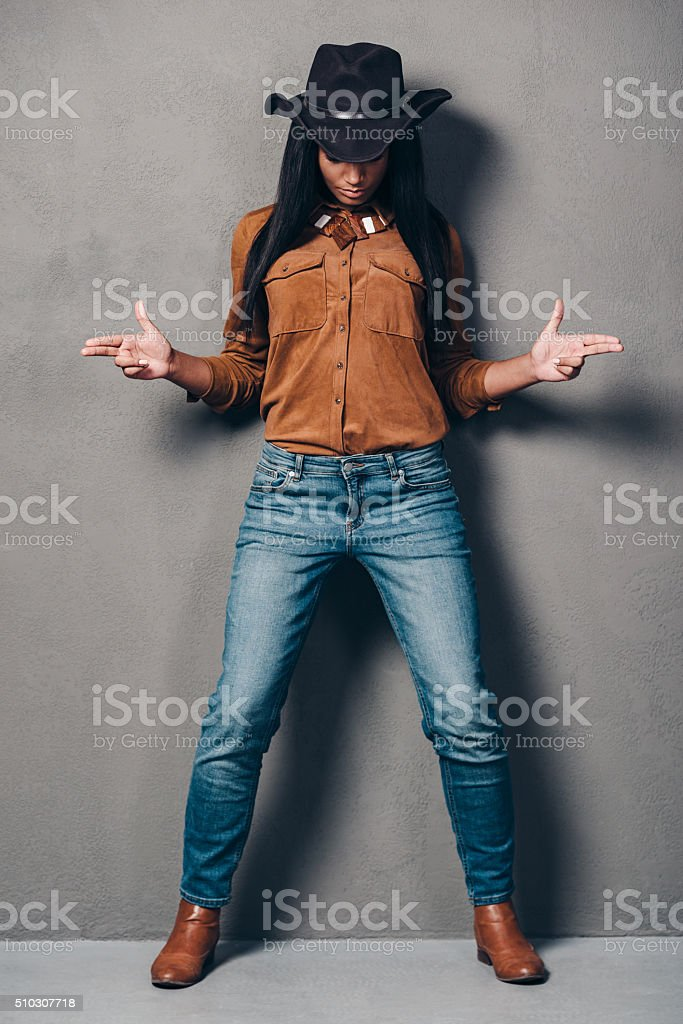 Cowgirl. stock photo