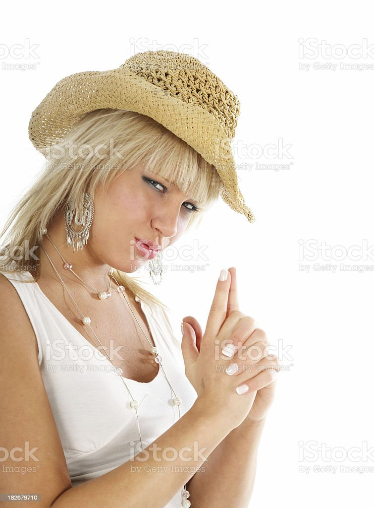 Cowgirl portrait royalty-free stock photo