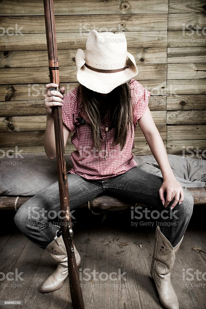Cowgirl Protection royalty-free stock photo