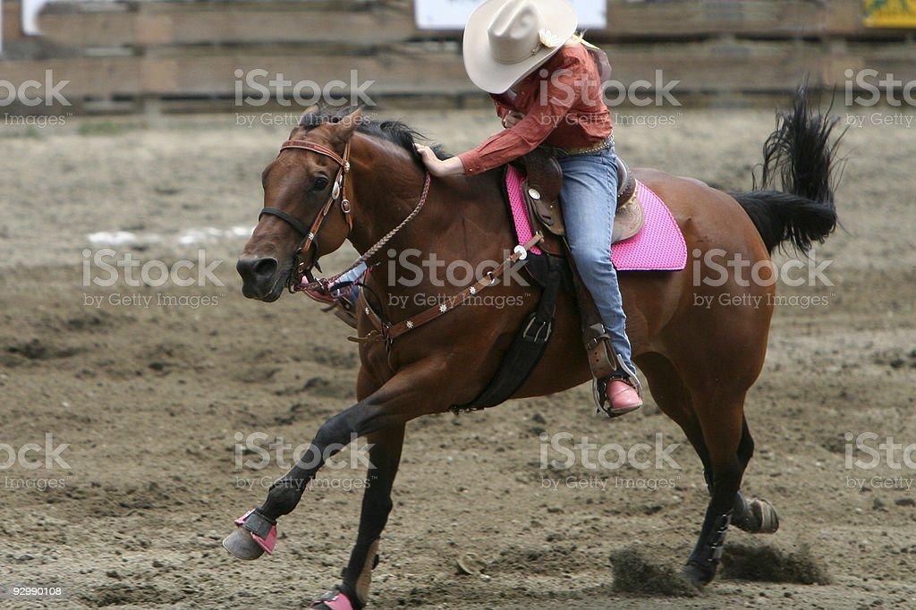 Cowgirl Racing stock photo