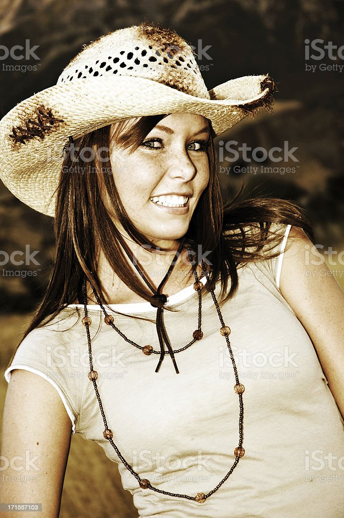 Cowgirl Style royalty-free stock photo