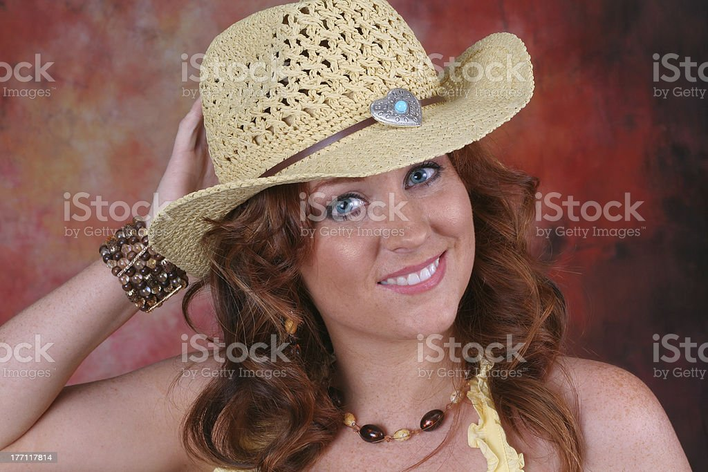 Cowgirl Up stock photo