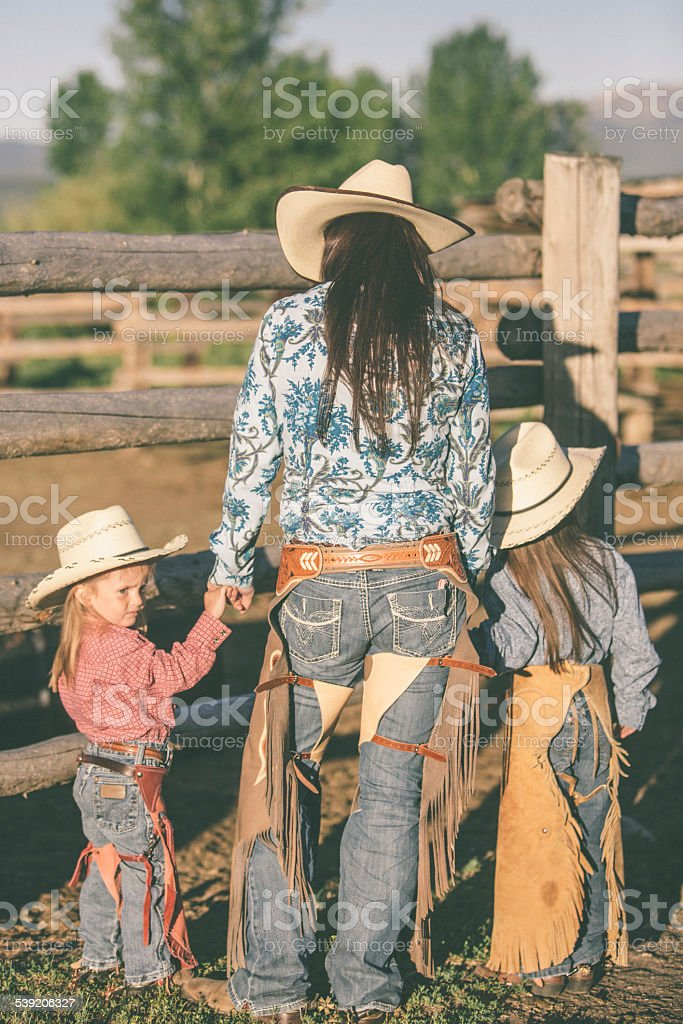 Cowgirls stock photo