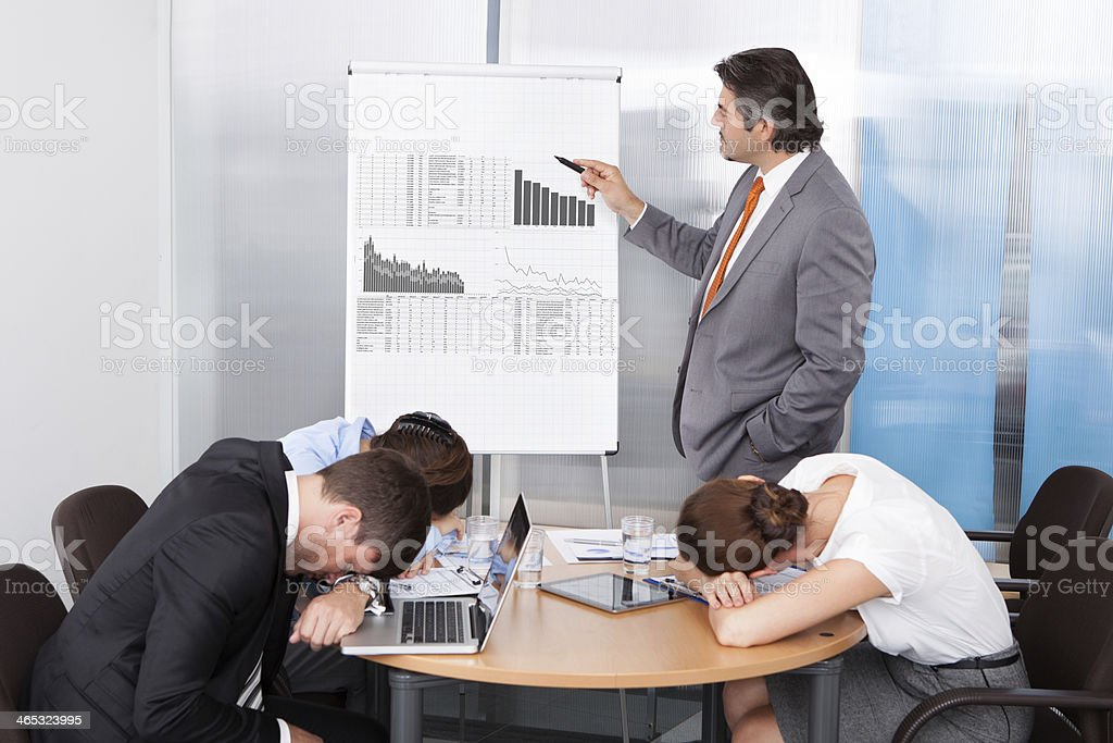 Coworkers Getting Bored stock photo