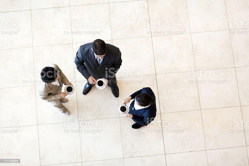 co-workers having coffee break stock photo
