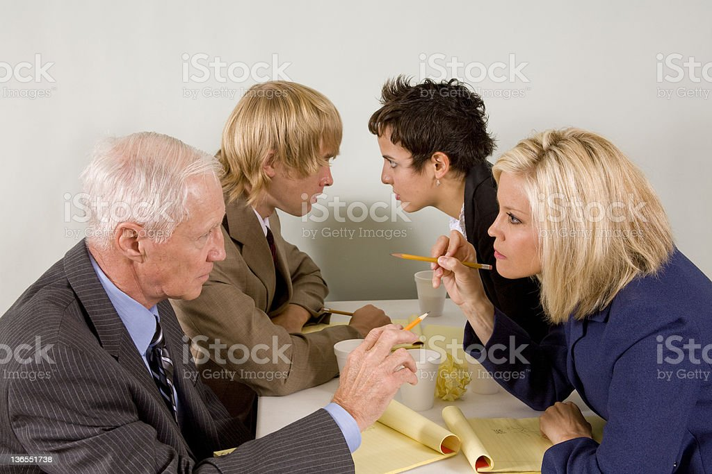 Coworkers in a heated discussion while brainstorming. royalty-free stock photo