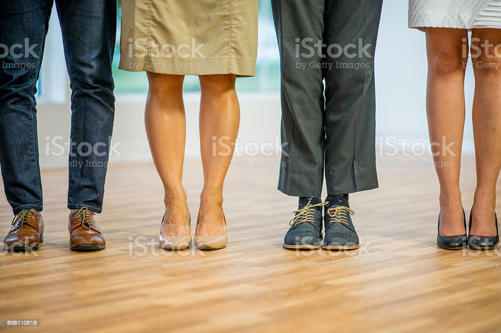 Coworkers Standing Together stock photo