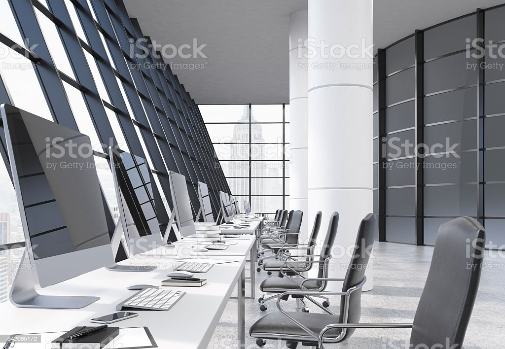 Coworking office interior stock photo