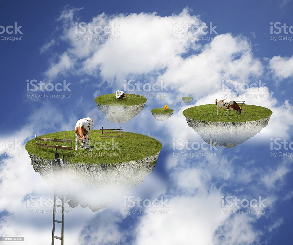 cows in the sky royalty-free stock photo