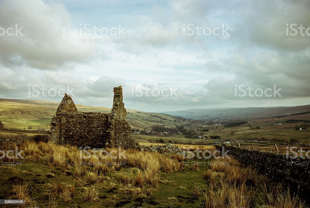 Cowshill, Weardale stock photo