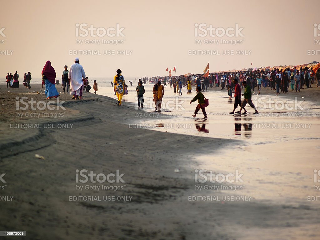 Cox's Bazar is the most visited tourist destinations in Bangladesh stock photo