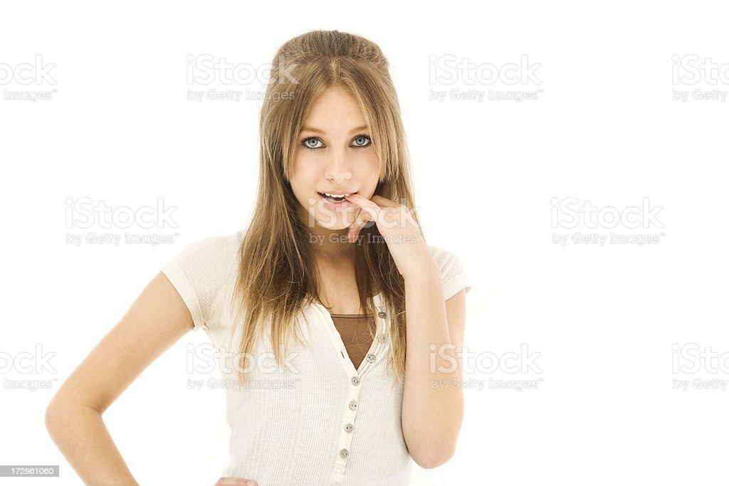Coy Teen royalty-free stock photo