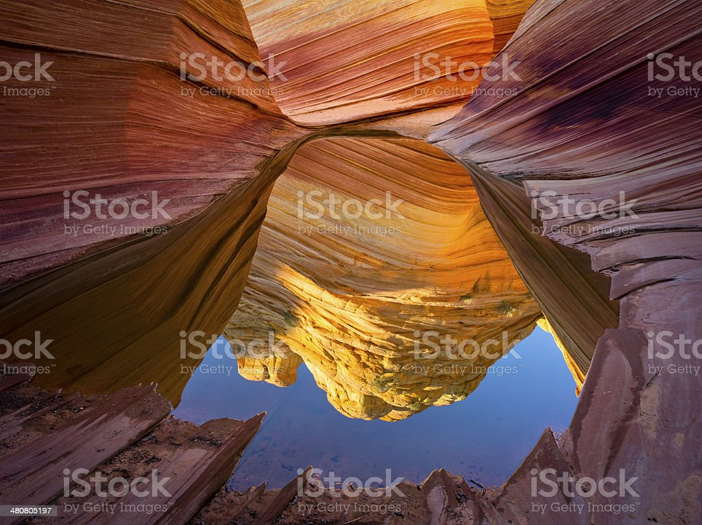 Coyote Buttes - The Wave stock photo