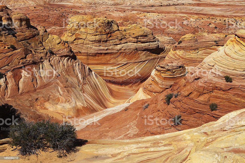 Coyote Buttes with Swirling Shapes royalty-free stock photo