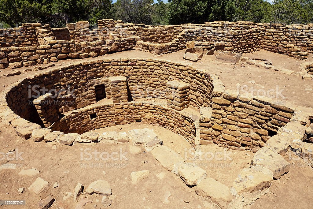 Coyote Village Ruins - Mesa Verde National Park, Colorado stock photo