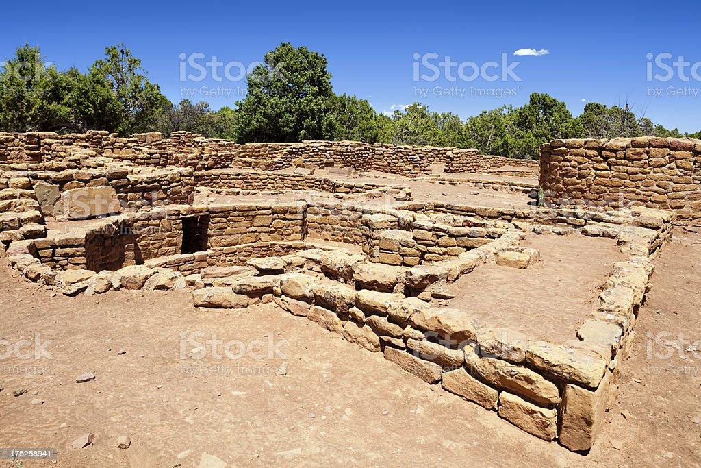 Coyote Village Ruins - Mesa Verde National Park, Colorado stock photo