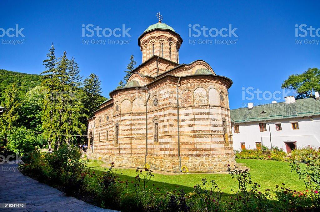 Cozia monastery in Romania stock photo