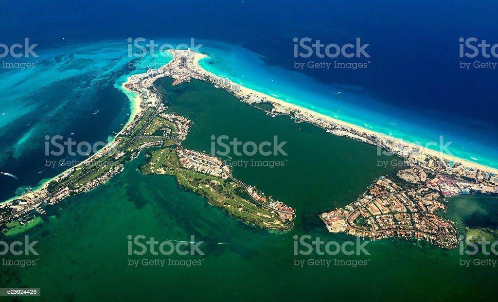Cozumel Aerial stock photo