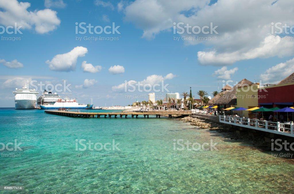 Cozumel Island Waters stock photo