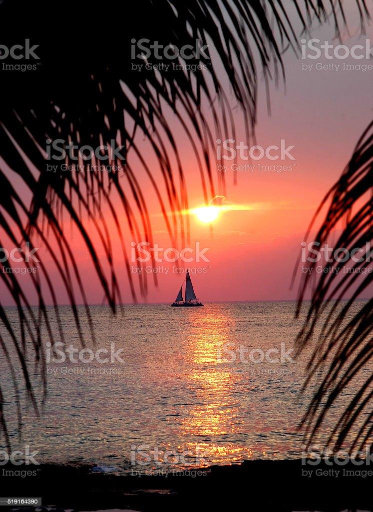 Cozumel Sunset stock photo