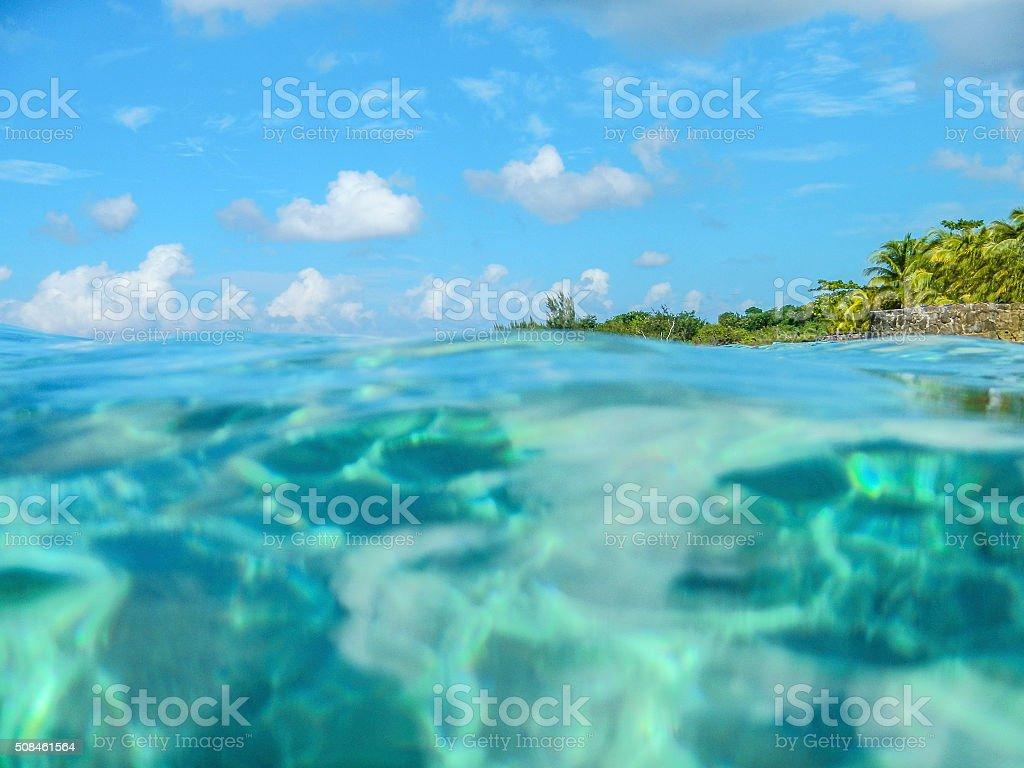 Cozumel water stock photo