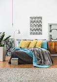 Cozy bedroom in modern style