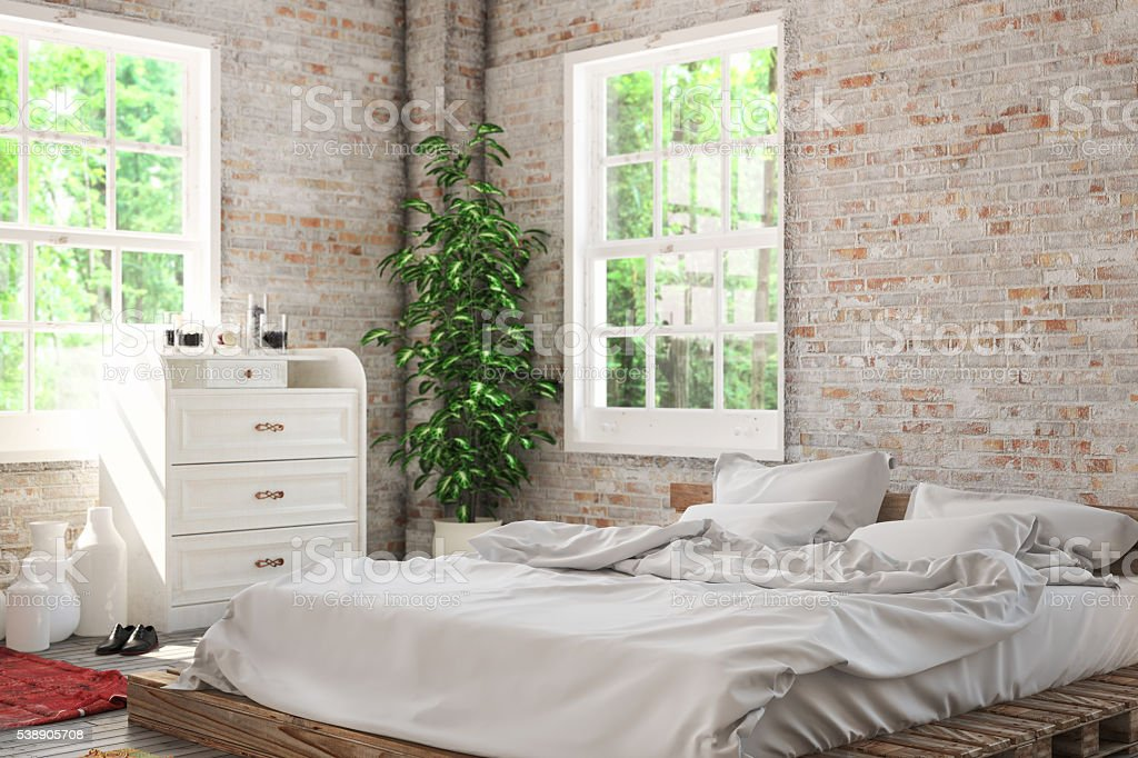 Cozy Bedroom stock photo
