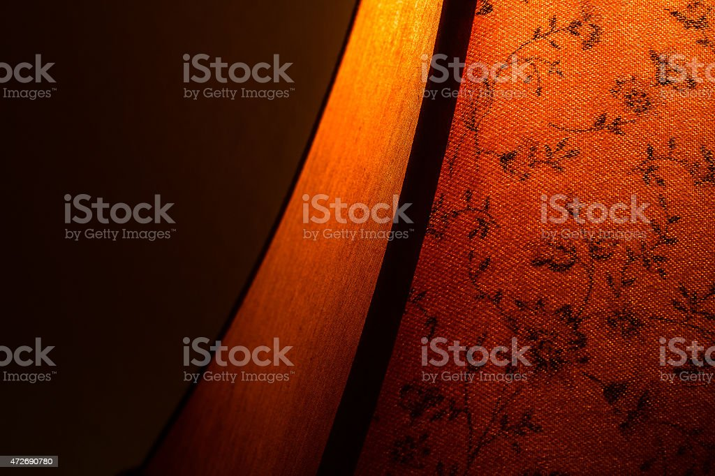 Cozy bedside lamp stock photo