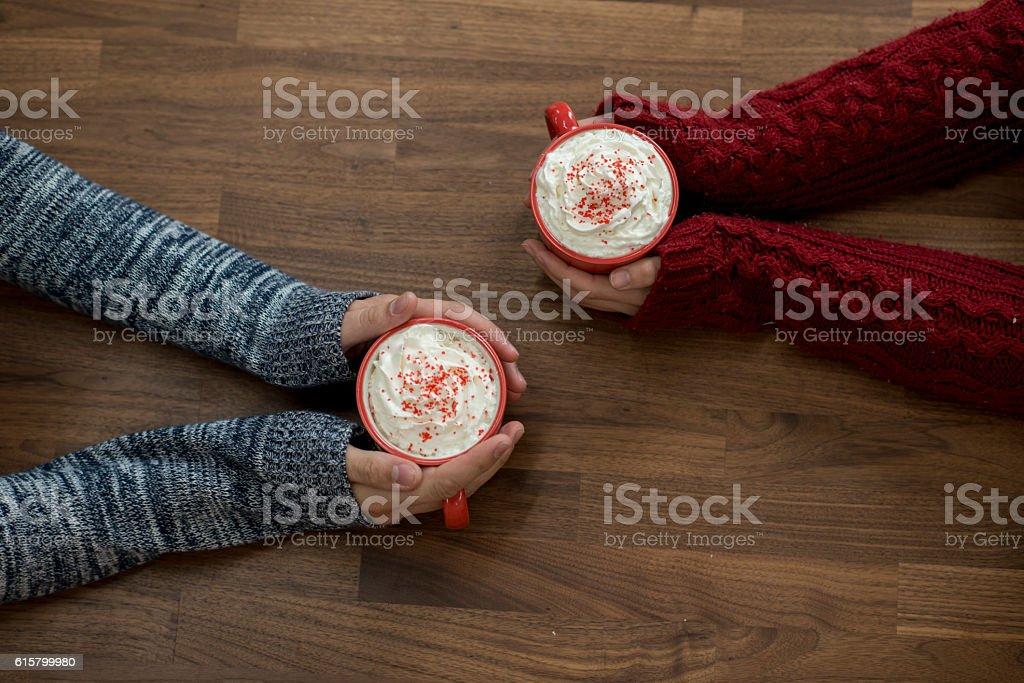 Cozy Christmas stock photo