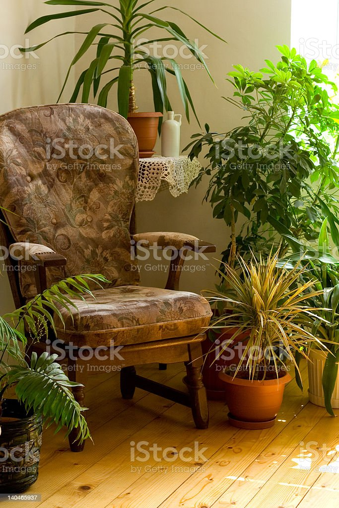 Cozy corner at home royalty-free stock photo