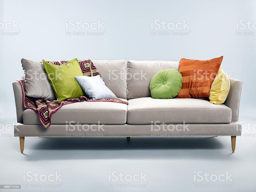 cozy couch stock photo