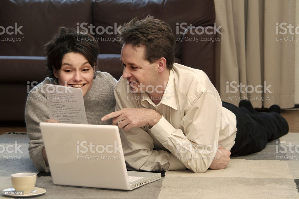 Cozy Couple royalty-free stock photo