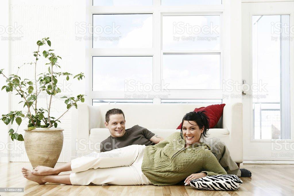 Cozy couple royalty-free stock photo