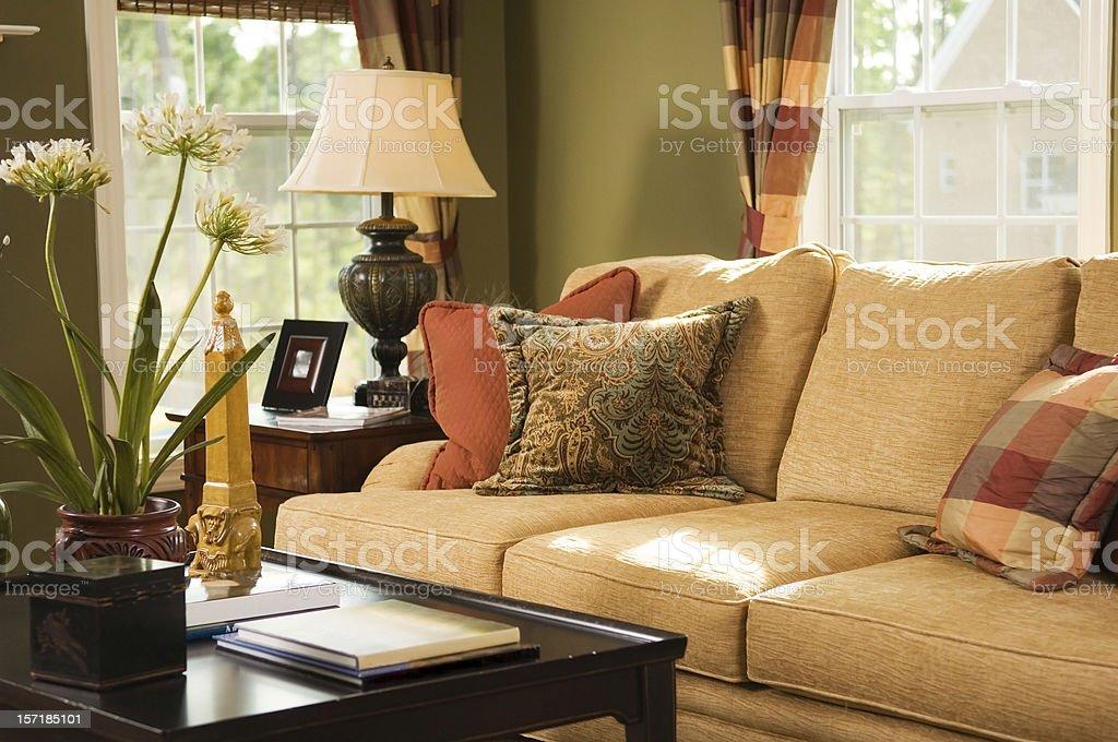 Cozy Family Room royalty-free stock photo