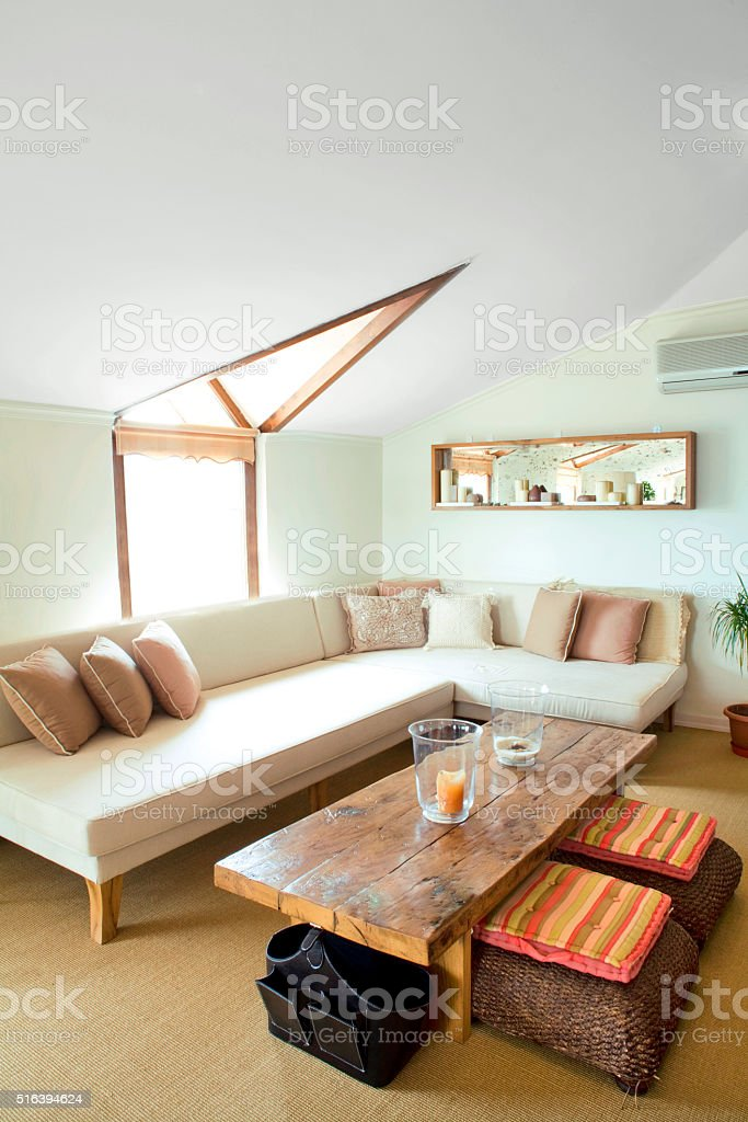 Cozy Family Room stock photo