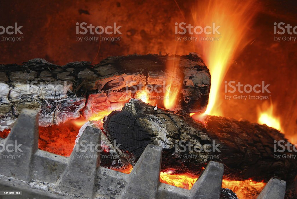 Cozy home fireplace royalty-free stock photo