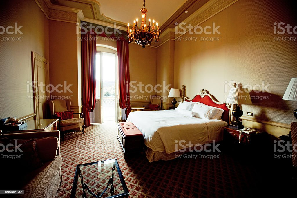Cozy Hotel Room in Firenze, Italy royalty-free stock photo
