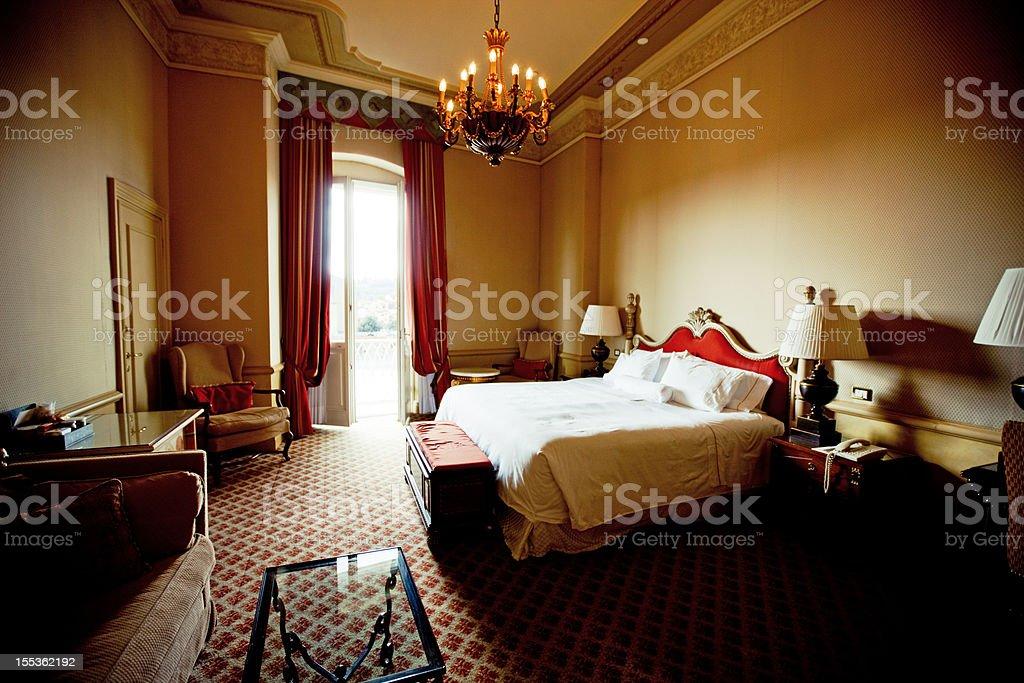 Cozy Hotel Room in Firenze, Italy stock photo