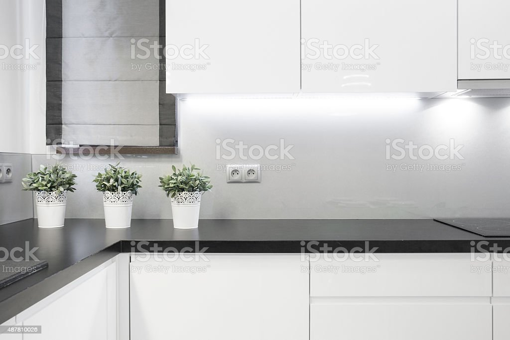 Cozy kitchen interior stock photo