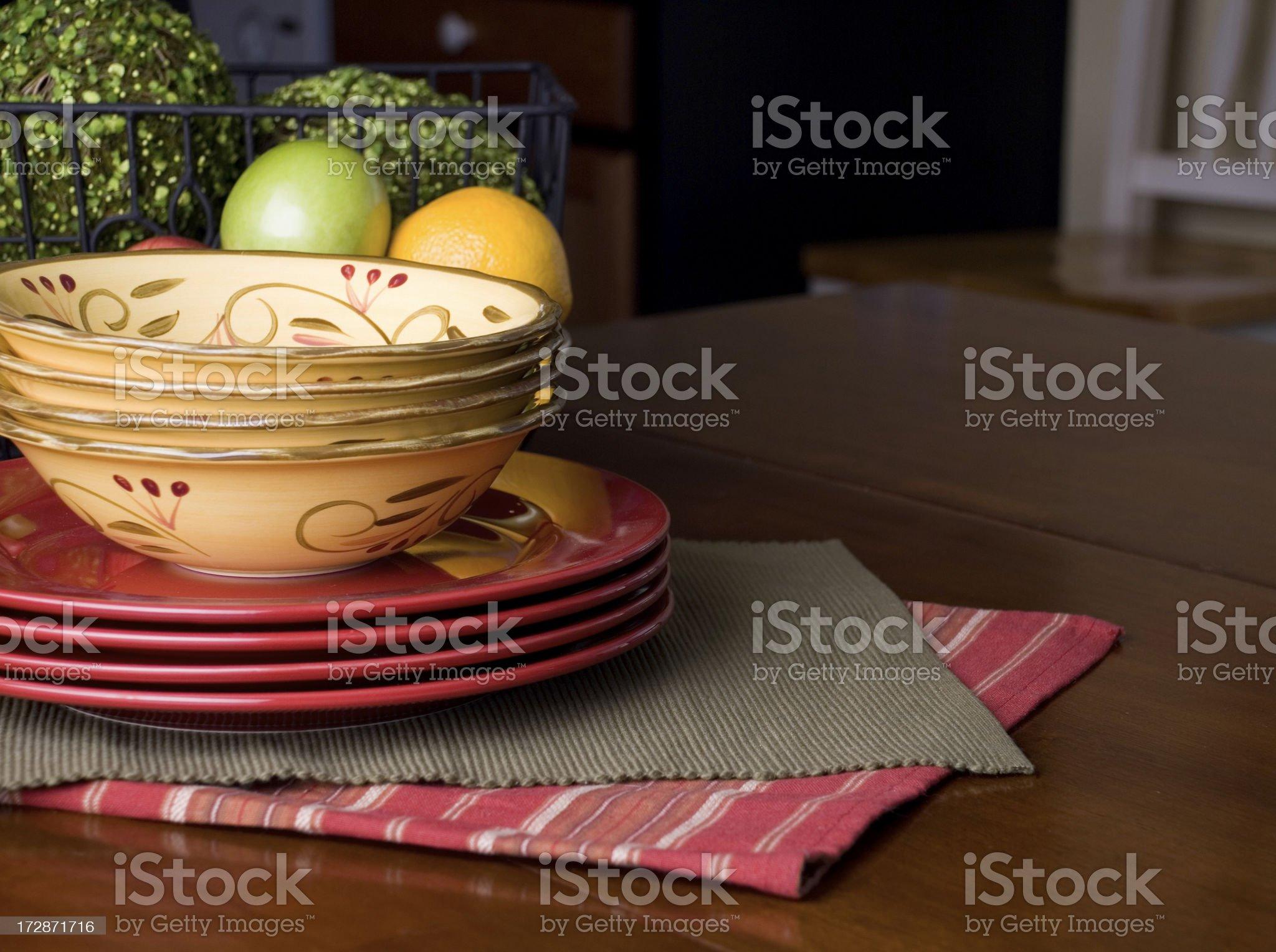 Cozy kitchen table royalty-free stock photo