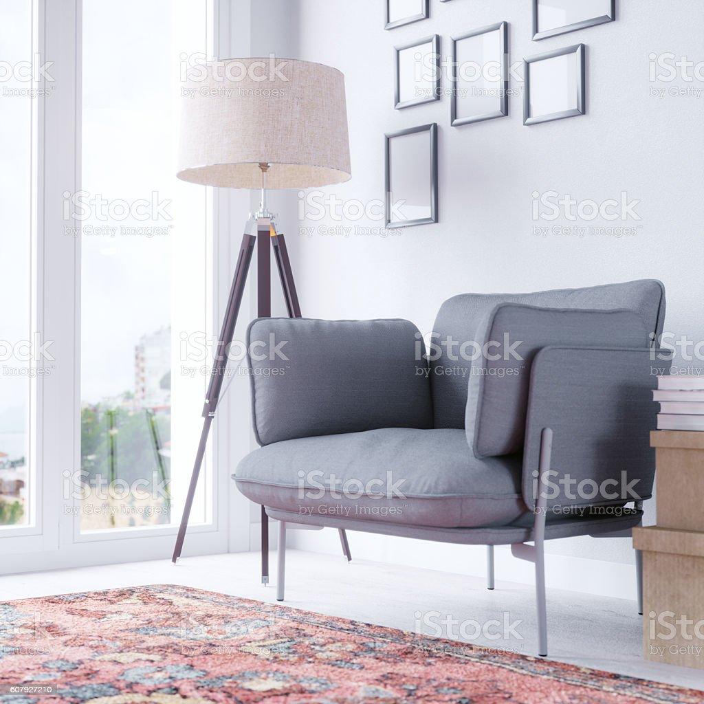 Cozy Living Room Interior stock photo