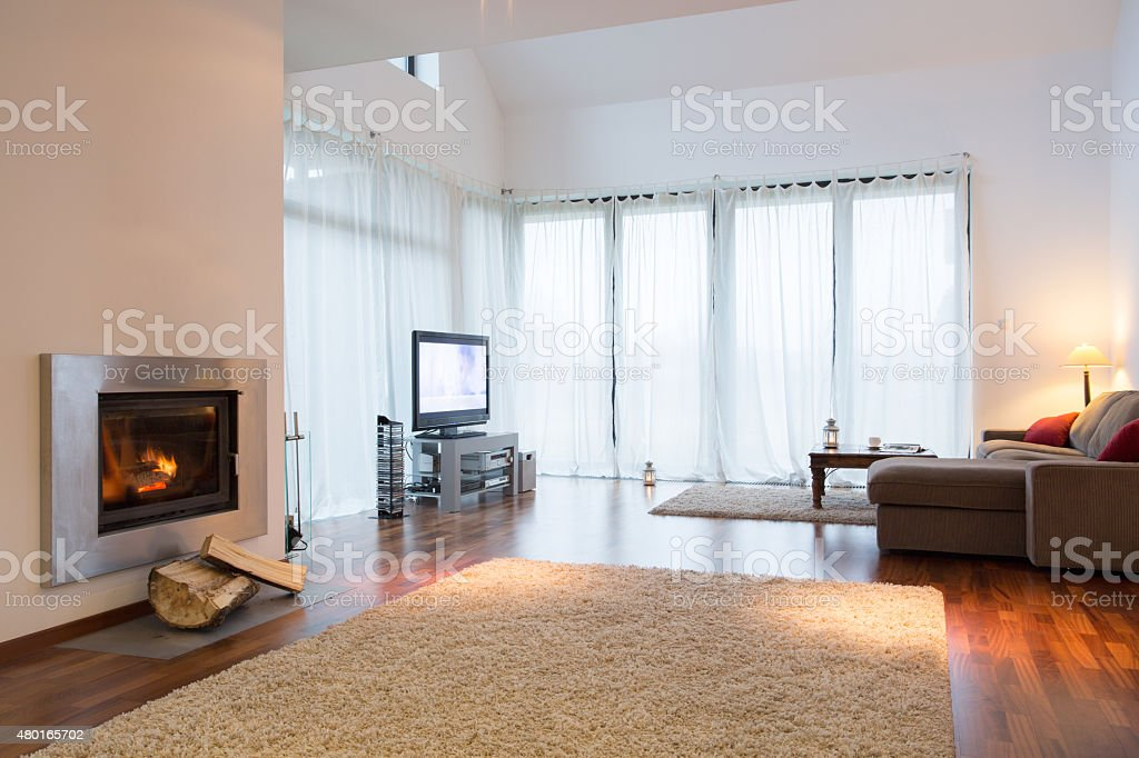 Cozy living room stock photo
