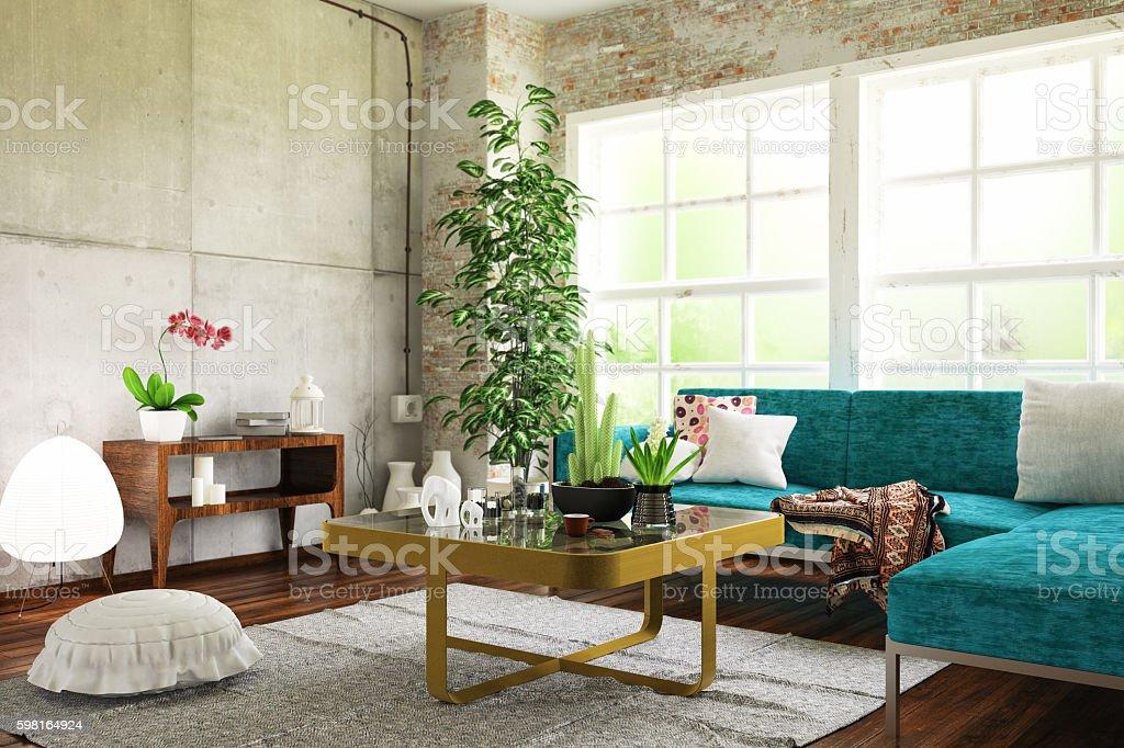 Cozy Living Room stock photo