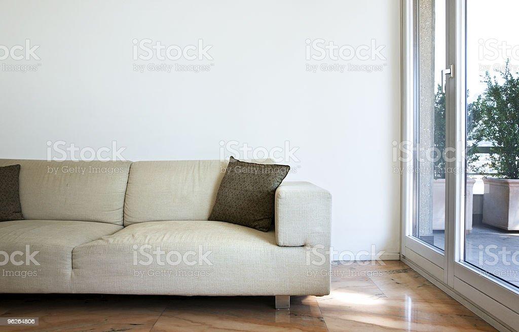 cozy modern flat stock photo
