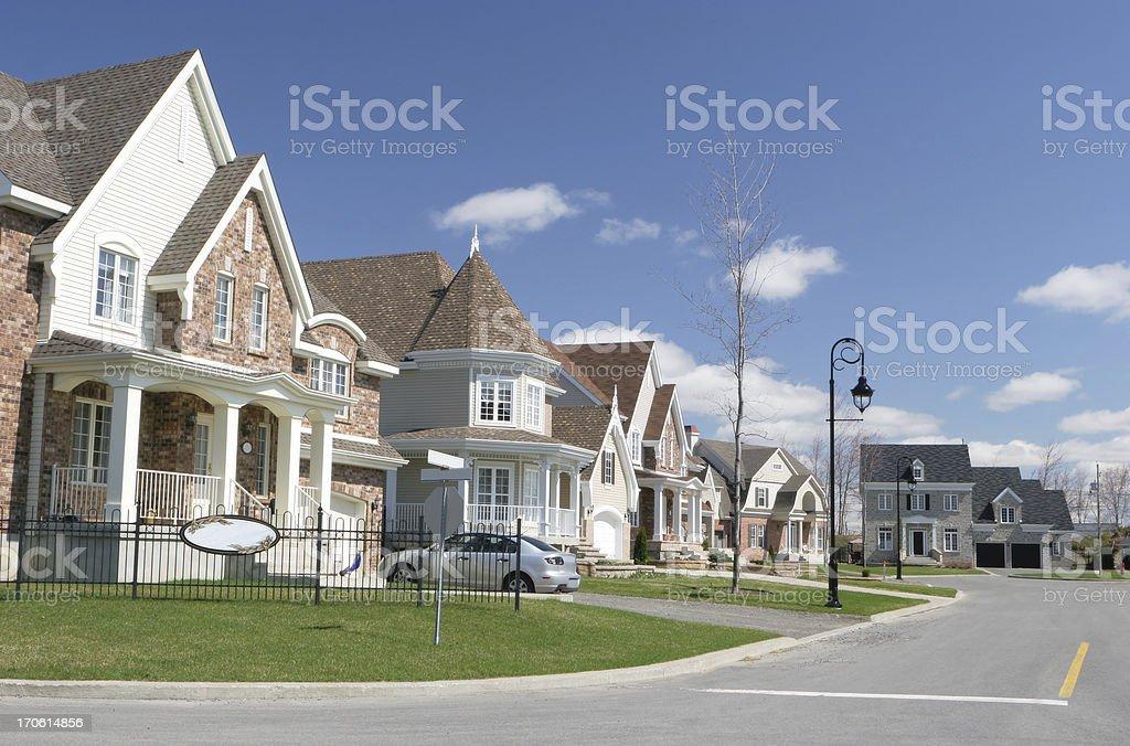 Cozy Neighborhood royalty-free stock photo