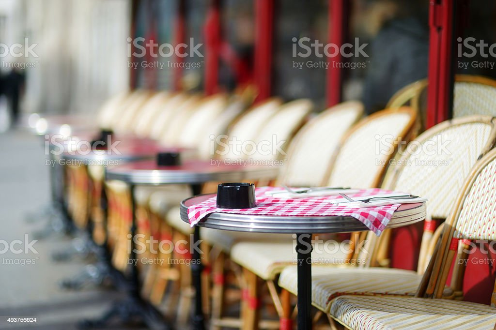 Cozy outdoor cafe stock photo