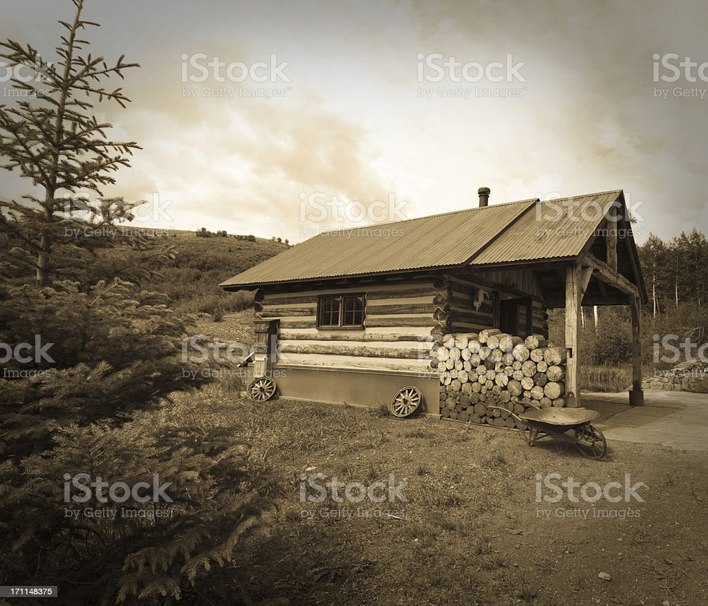 Cozy Pioneer home royalty-free stock photo