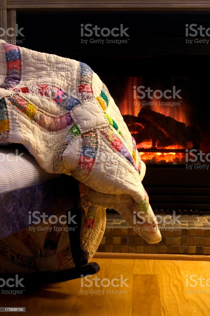 Cozy Quilt stock photo