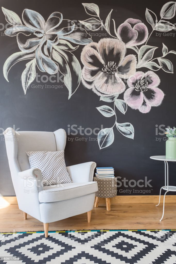 Cozy relax space in lounge stock photo