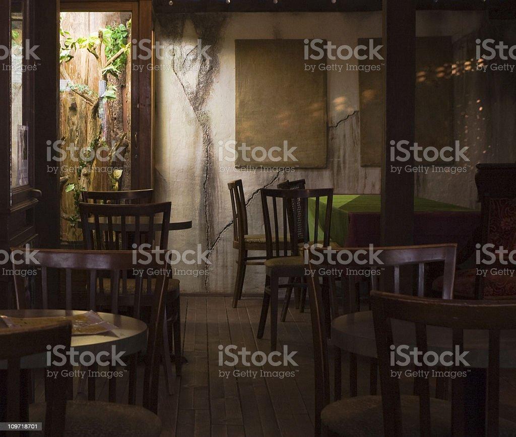 Cozy Restaurant Interior royalty-free stock photo